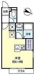 ラ・ノーブレ勝田台[1階]の間取り