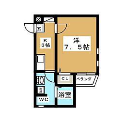 フェリーク新栄[4階]の間取り