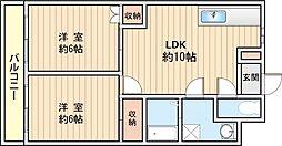 ラフォーレ田口[2階]の間取り