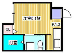 アーバンハウス新松戸[203号室]の間取り