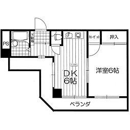 プラスパーコバヤシ(MTK)[4階]の間取り
