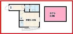 東京都荒川区南千住2丁目の賃貸アパートの間取り