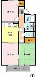 大阪府堺市北区北花田町4丁の賃貸アパートの間取り