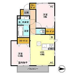 (仮)D-room高井町[101号室]の間取り