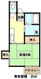 埼玉県川口市飯塚3丁目の賃貸アパートの間取り