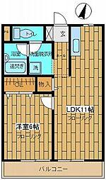 ユアーキャッスル[2階]の間取り