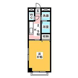 ヴィラコンテッサ谷田[1階]の間取り