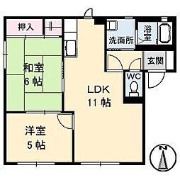 ヴィンテージ A棟[1階]の間取り