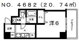 ブリリアントコート西田辺[805号室号室]の間取り