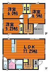 [一戸建] 岡山県倉敷市東塚5丁目 の賃貸【/】の間取り