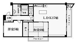 兵庫県西宮市甲陽園山王町の賃貸マンションの間取り