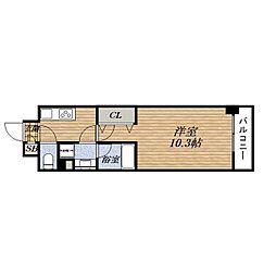 JR東海道・山陽本線 吹田駅 徒歩12分の賃貸マンション 5階1Kの間取り