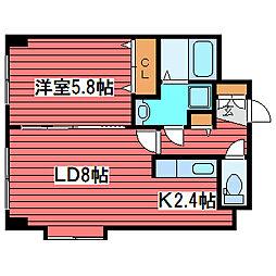 ノースパレス福住壱番館[2階]の間取り