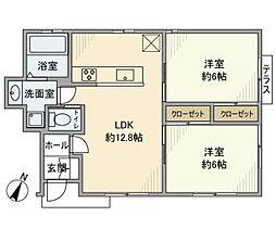 [一戸建] 神奈川県横浜市中区鷺山 の賃貸【/】の間取り