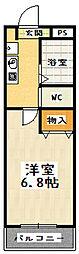 JTトキジン[206号室]の間取り