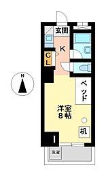 つばめ栄ハイツ[9階]の間取り