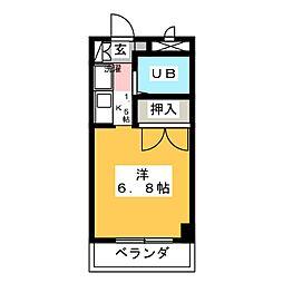 ユーハイムY・III[-2階]の間取り