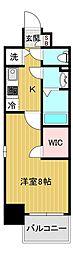 エスリード大阪城アクシス 3階1Kの間取り