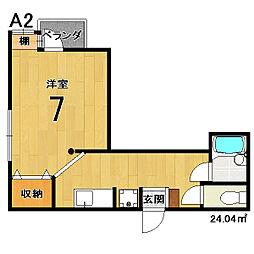 スクリーン3233[212号室]の間取り
