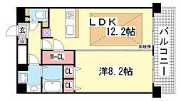 プレサンス神戸駅前グランツ[1402号室]の間取り