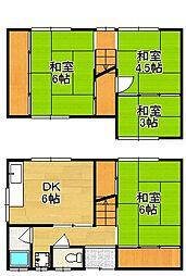 [一戸建] 京都府京都市左京区岩倉長谷町 の賃貸【/】の間取り