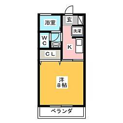 コスモ筑紫野II[2階]の間取り