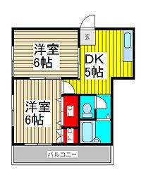埼玉県川口市芝2丁目の賃貸アパートの間取り