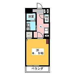 カスタリア新栄II[7階]の間取り