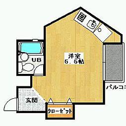 中野マンション[3階]の間取り
