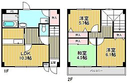 [テラスハウス] 兵庫県西宮市伏原町 の賃貸【/】の間取り