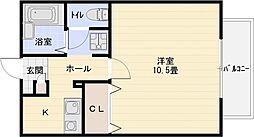 クローエイテルパーチ[1階]の間取り