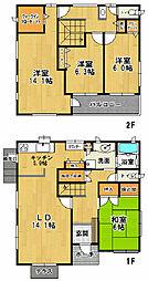 [一戸建] 茨城県つくば市豊里の杜1丁目 の賃貸【茨城県 / つくば市】の間取り
