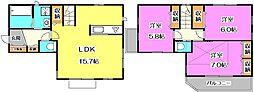 [一戸建] 東京都練馬区西大泉6丁目 の賃貸【東京都 / 練馬区】の間取り