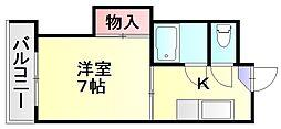 福岡県福岡市博多区相生町2の賃貸マンションの間取り