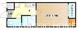 大阪府堺市堺区住吉橋町1丁の賃貸マンションの間取り