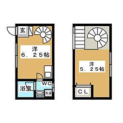 こーぽ・さかゑ 1階1DKの間取り