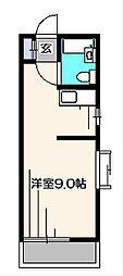 光コーポラスII[1階]の間取り
