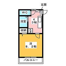 第3筑水ビル[3階]の間取り