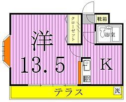 三建ハイツ新松戸II[1階]の間取り