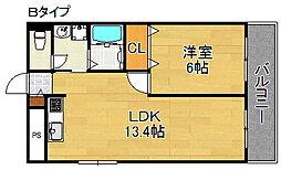 稲垣第三ビル[4階]の間取り