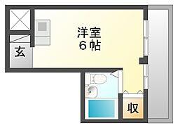 アーチ立花2[4階]の間取り