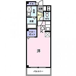 アビタシオン・シエル[1階]の間取り