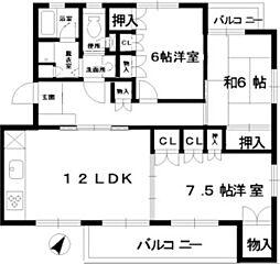 フローラル古江西[2階]の間取り