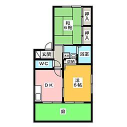 ルイースト・アーク[1階]の間取り
