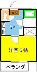 プレステージ原田II[203号室]の間取り
