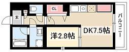 Brave亀島本陣 3階1DKの間取り