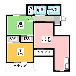メゾン・エトワール[2階]の間取り