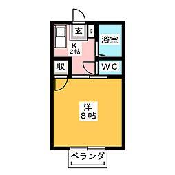 コスモハイツシックス[2階]の間取り