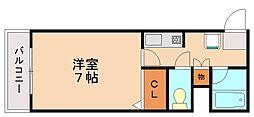 ピュアドームエレガンテ平尾[9階]の間取り