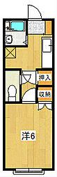 VILLA SUZUKI[205号室]の間取り